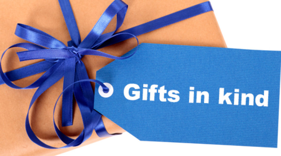 Valuing and reporting gifts in kind and donated services
